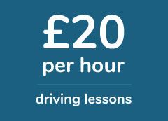 Book driving lessons from £20 per hour